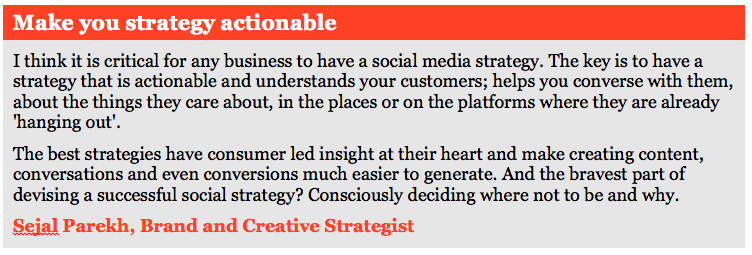 Social media strategy quote
