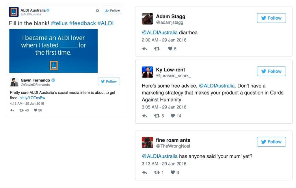 ALDI social media blunder