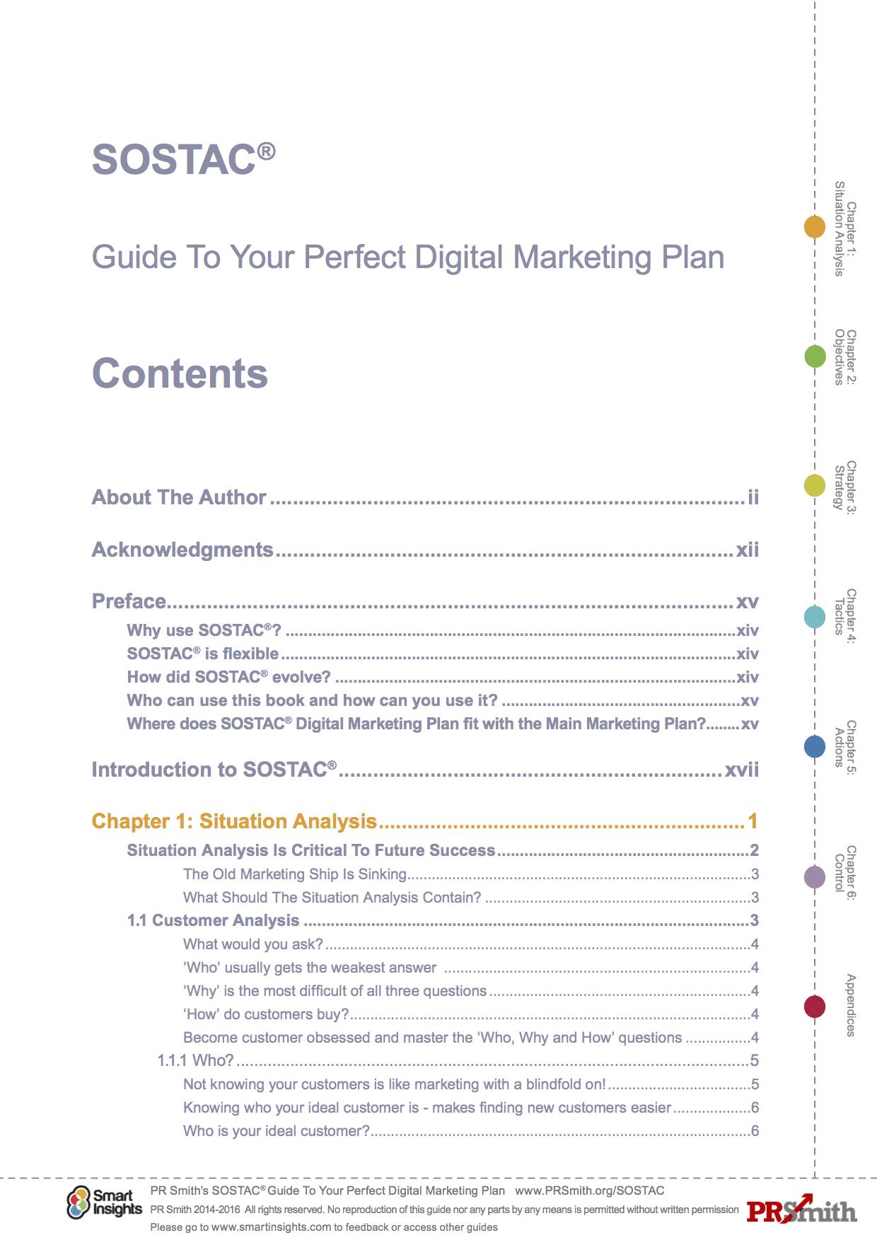 SOSTAC® Digital Marketing Planning Guide