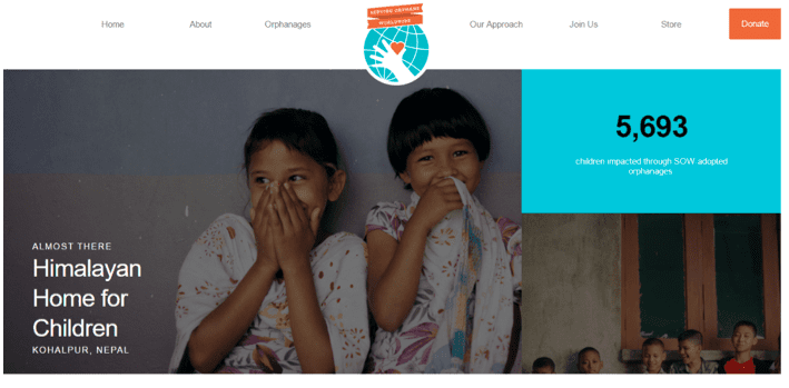 charity site flat design