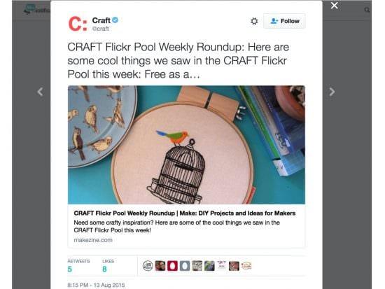 Craft twitter weekly roundup