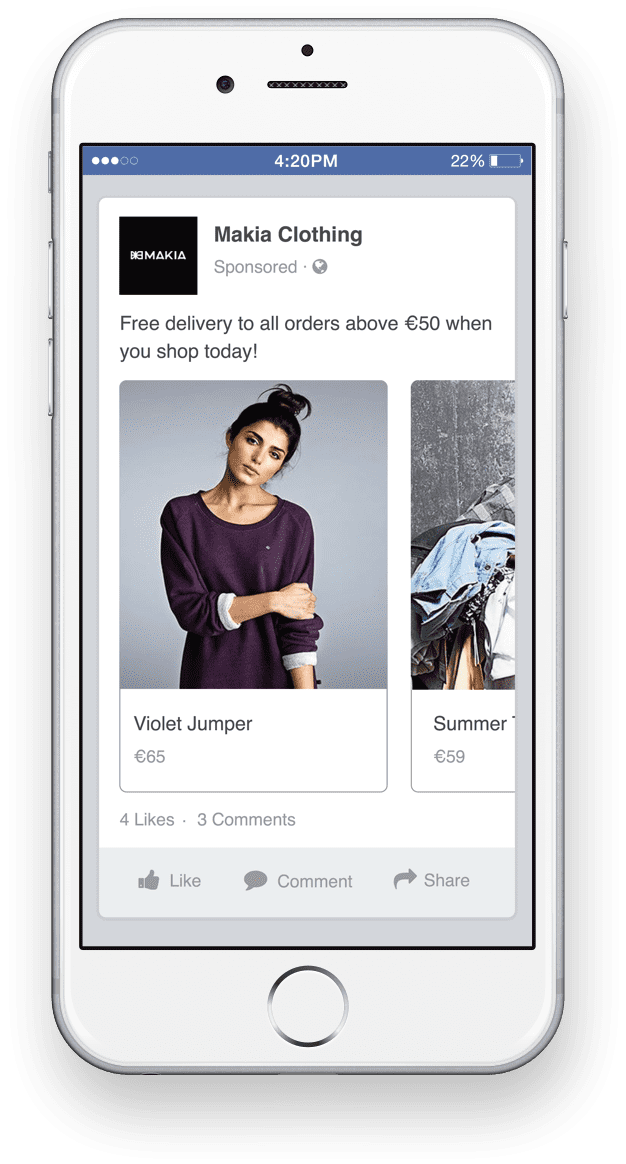facebook announce their dynamic ads are coming to instagram smartinsights alert smart insights. Black Bedroom Furniture Sets. Home Design Ideas