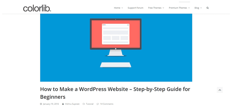 wordpress themes landing page