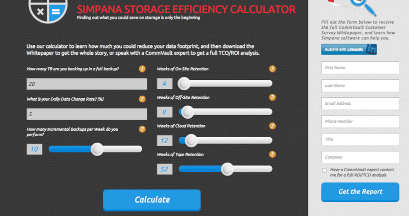 storing efficiency calculator