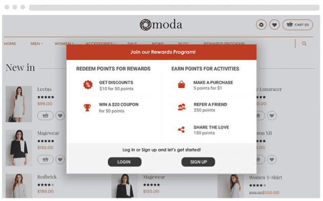 moda customer loyalty