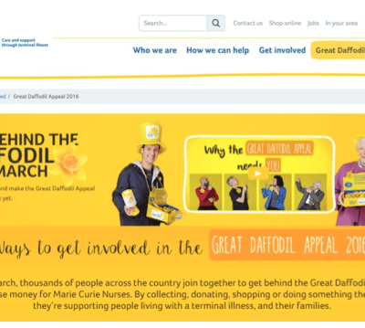 Get behind the daffoldil marie curie site