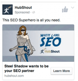 Effective PPC Facebook campaign example