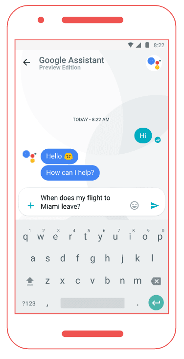 Google Allo assistant example helpful