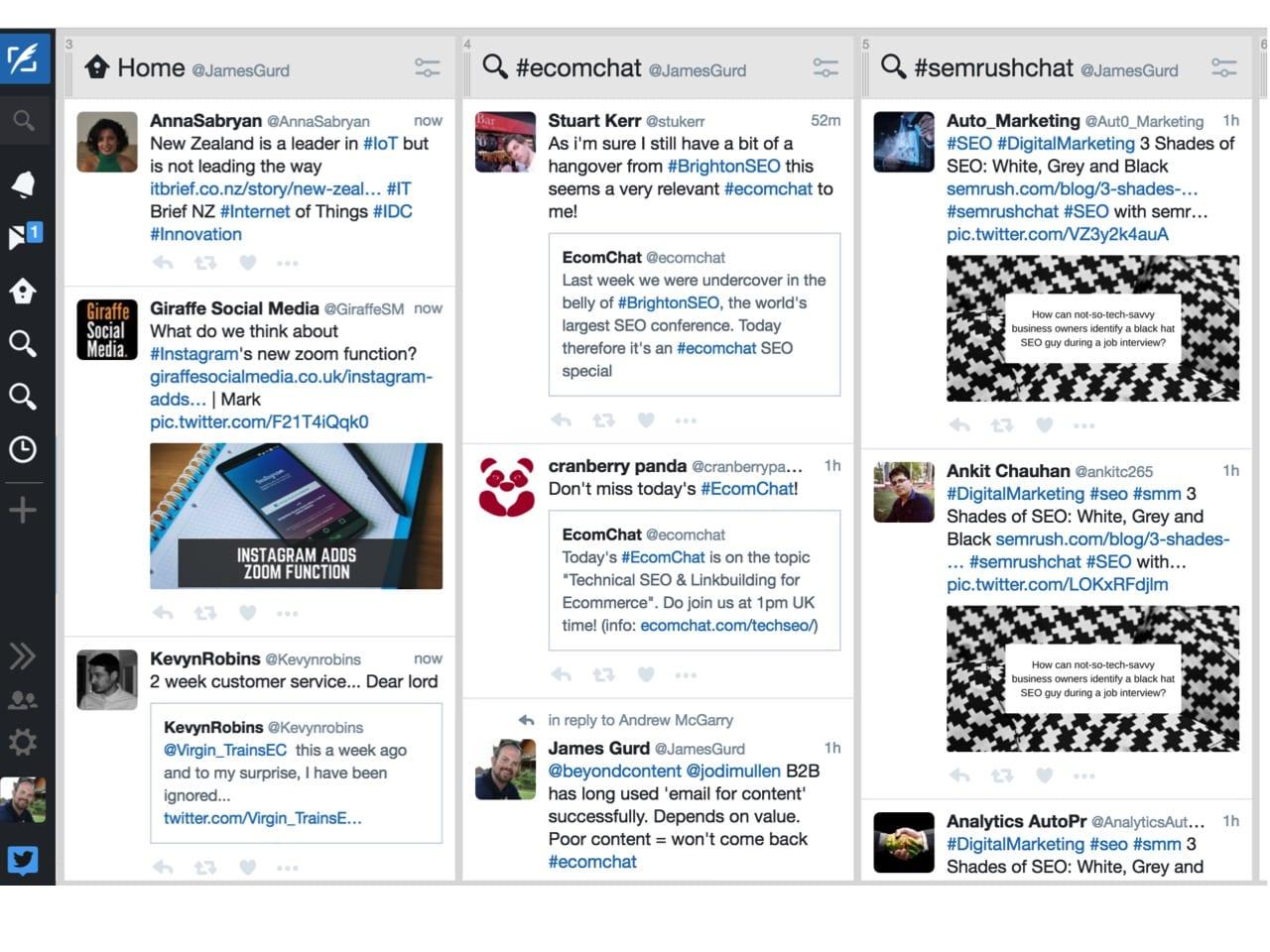 Tweetdeck custom dashboard