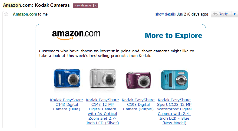 amazon dynamic content suggestion