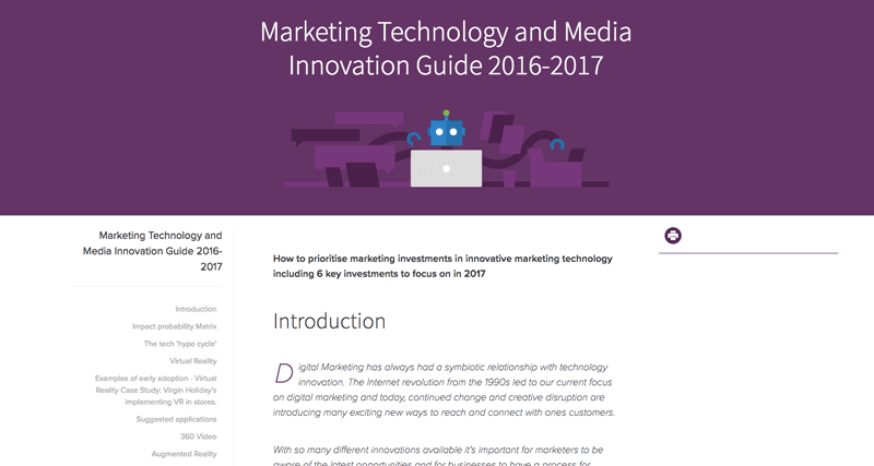 Marketing technology and media innovation guide 2017