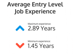 Average entry level job experiance