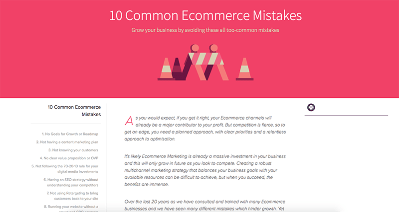 10 Ecommerce mistakes