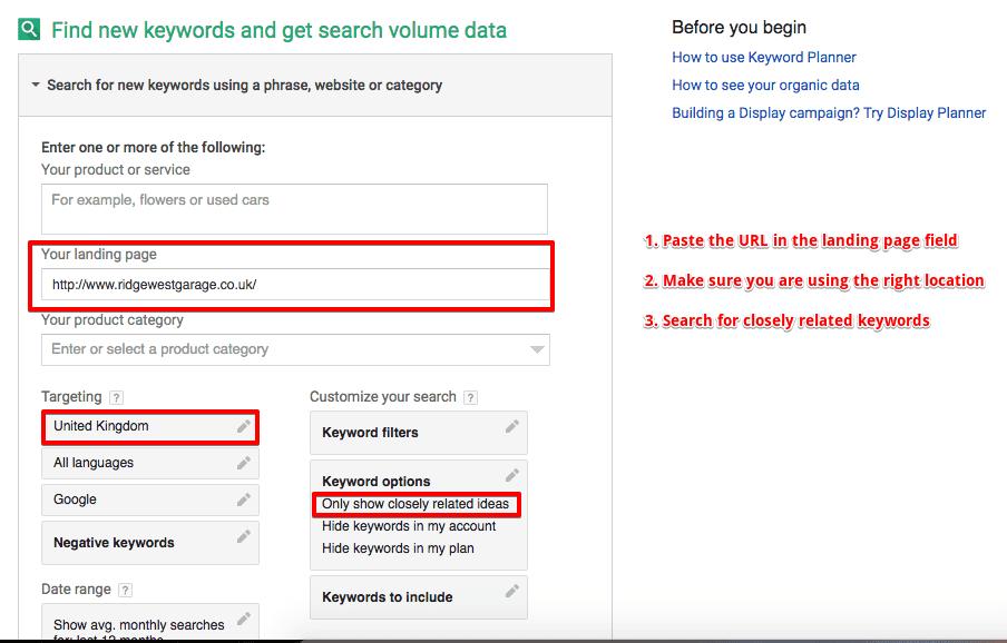 search volume data