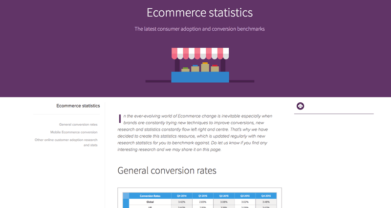 E-commerce statistics benchmark