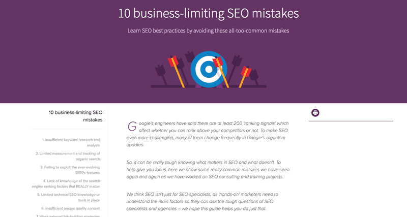 10 business-limiting SEO mistakes