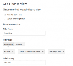 dividing traffic with filters