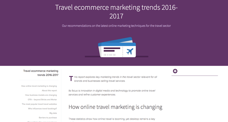 Travel ecommerce marketing trends 2016-2017
