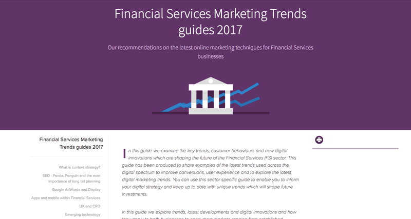 Financial Services Marketing Trends Guide 2017