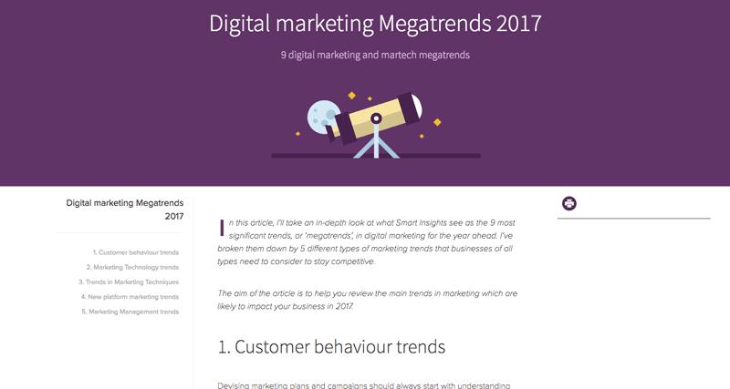 9 Digital Marketing Megatrends 2017