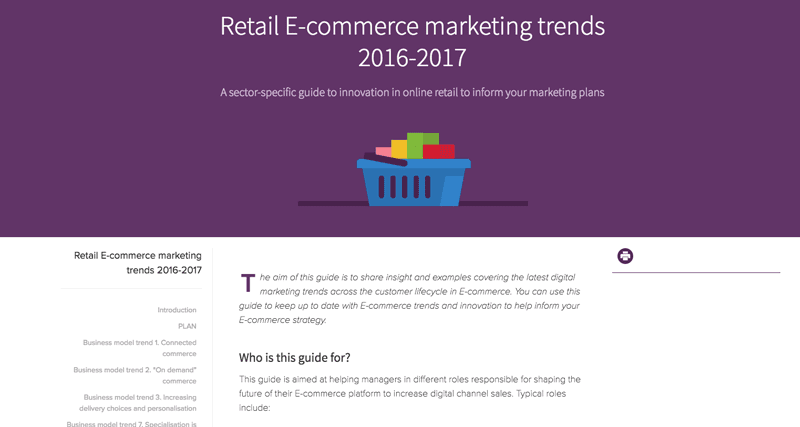 Retail E-commerce marketing trends 2016-2017