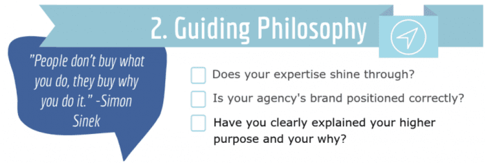 digital marketing agency proposal - guiding philosophy section