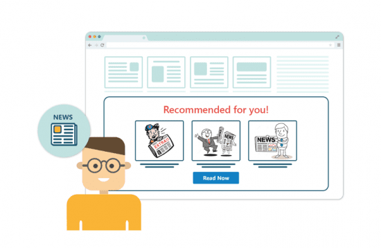 Email personalization for a content website