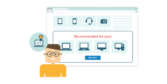 Email personalization for an ecommerce website