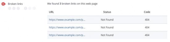 SEO audit - broken links