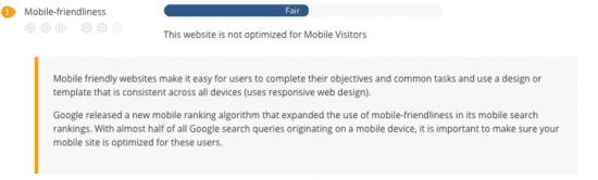 SEO audit - mobile friendliness