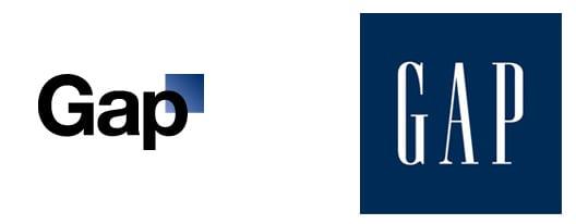 GAP new and old logo