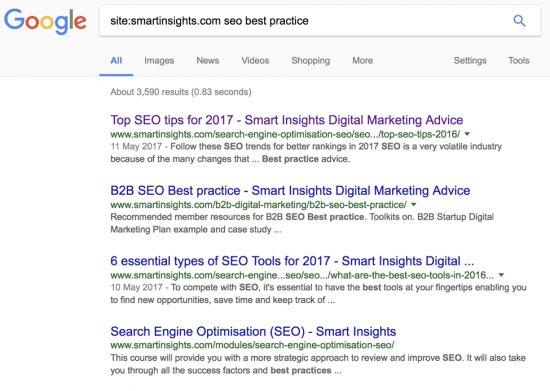 smart insights SEO best practise