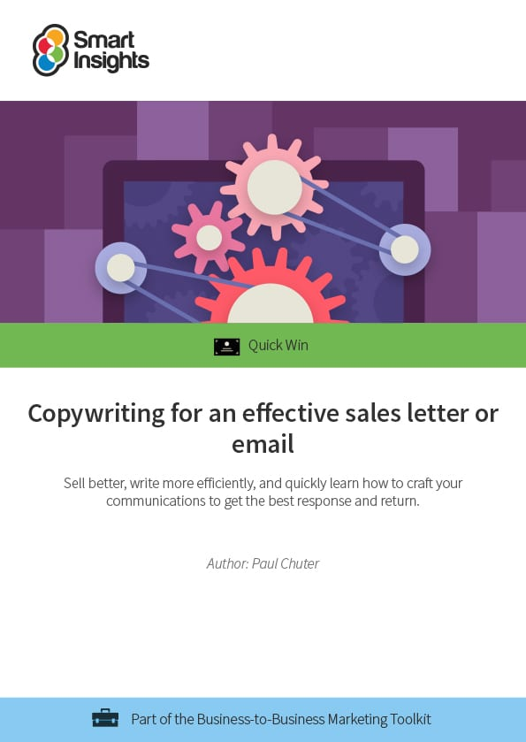 Copywriting For An Effective Sales Letter Or Email Smart Insights