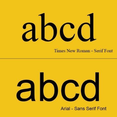 Sans vs Serif