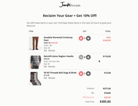 interactive email for ecommerce