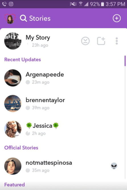 Snapchat official stories, Facebook CV's and tbh the app