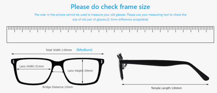 Firmoo - check frame size