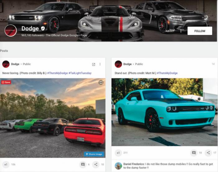 Dodge Google+