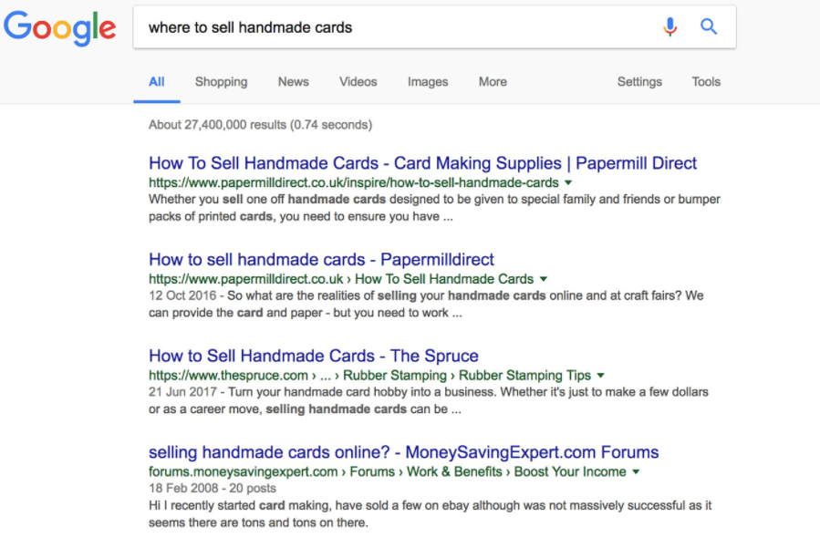 Google - using related searches to find content