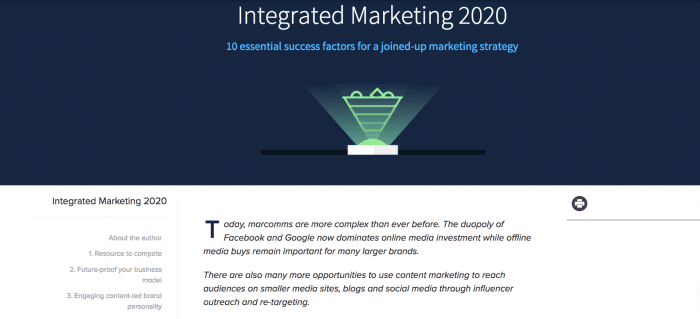 integrated marketing 2020