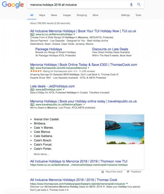 Menorca search query