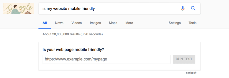 s my website mobile friendly directly in SERPs