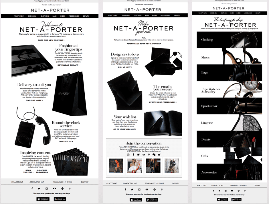 Net-a-Porter email