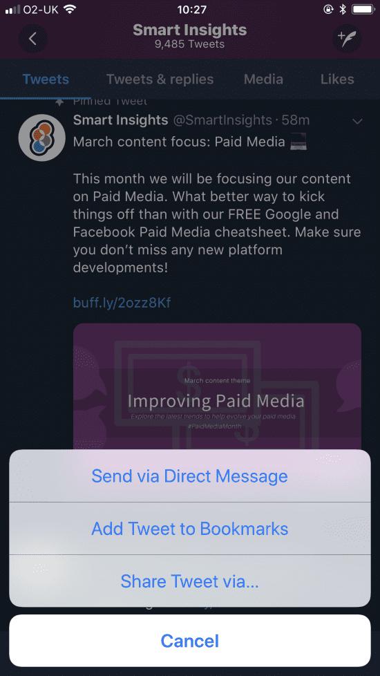 New Twitter share button
