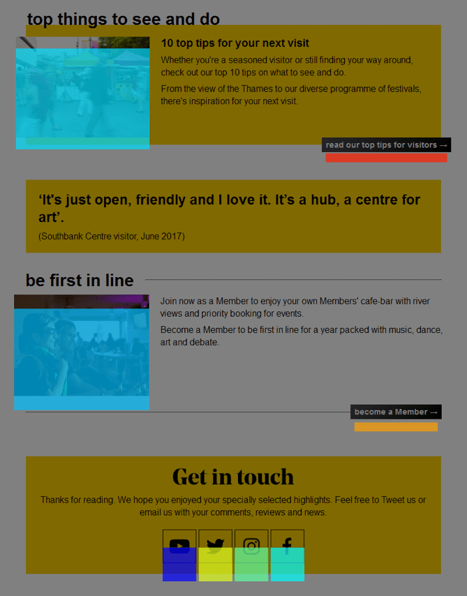 Southbank email sample