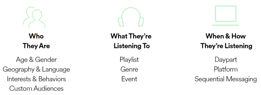 Spotify audience segments