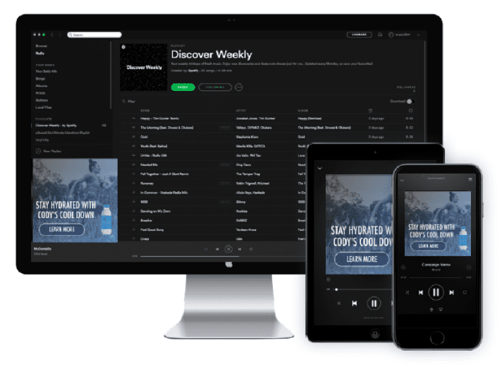 Spotify clickable companion display unit