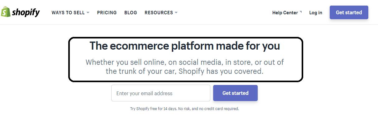Shopify headline