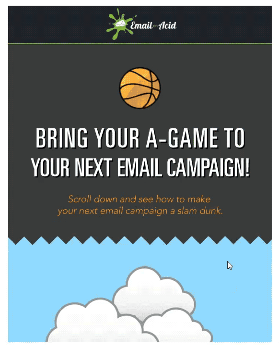 parallax scrolling in emails