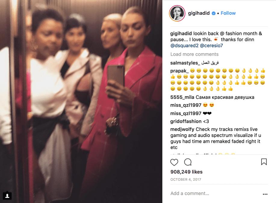 Instagram authenticity